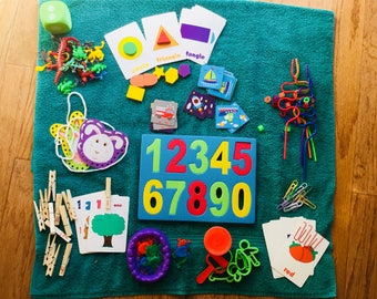 10 Busy Bag Activities for Toddlers and Preschoolers- Free Shipping
