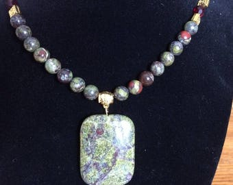 Dragonsblood Jasper and Garnet Necklace