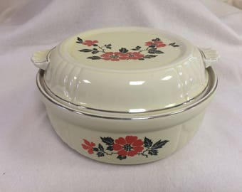 """Covered Casserole from Hall's """"Red Poppy"""" Pattern"""