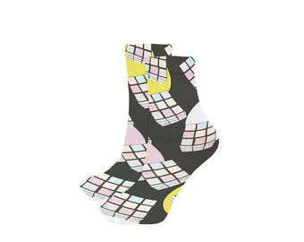 Socks cubes rubik's cube pastel colors