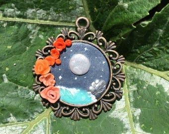 exotic moonlight pendant