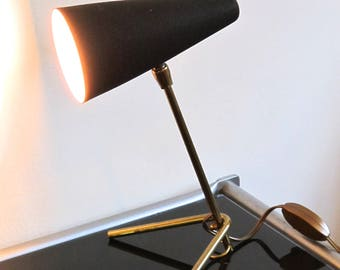 French vintage 1950s Luminalite tripod table/ wall lamp