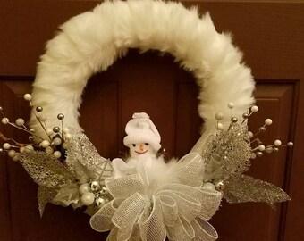 White Snowman Wreath
