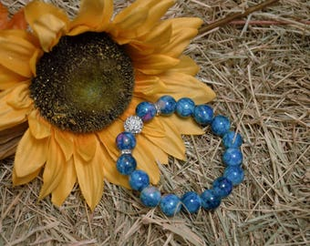 Cute Blue Beaded Bracelet