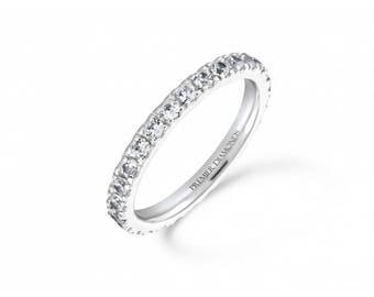 Classic claw set round brilliant cut diamond full set eternity ring 1.00 carat - Engagement Ring, White/Rose/Yellow Gold, Platinum,Palladium
