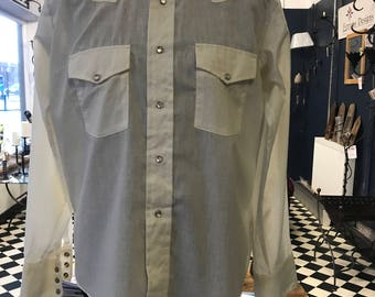 """Vintage western shirt  """"Bronco""""made in usa"""