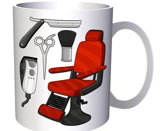 Barber Chair Hair 11oz Mug p145