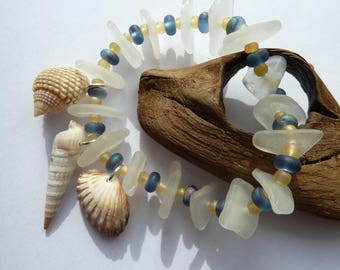 Artisan Made Beach Glass/Sea Glass Bracelet