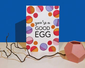 Handmade You're a Good Egg! Easter Card
