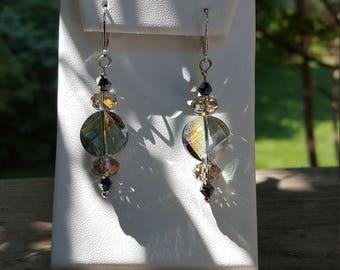 Aurora Crystal Dangle Earrings