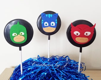 1 dozen PJ Masks chocolate Lollipops (12 treats)