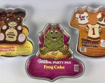 Wilton Huggable Teddy Bear Cake Pan, Frog Cake And T-shirt Cake Pan