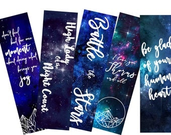 A Court of Thorns and Roses Printable Bookmarks // ACOTAR // Bookstagram Prop // Sarah J Maas