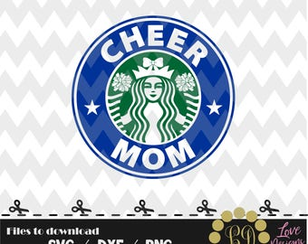 Cheerl Mom Coffee svg,png,dxf,cricut,silhouette,jersey,shirt,download,birthday,invitation,sport,cut,starbucks,univirsity,college,cheerleader