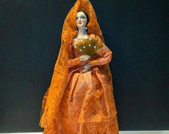 1950's Munecos Carselle Painted Spanish Lady Doll