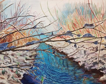 Spring Waters Oil Painting Original By Professional Artist Emils Kristians Muzikants