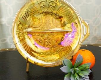 Carnival Glass Decorative Divided Bowl