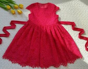 Lace dress for a little princess.
