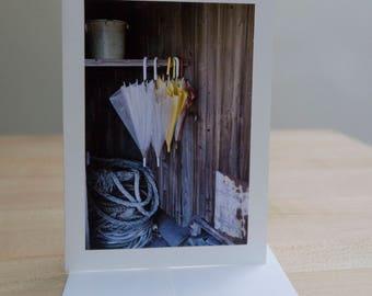 6 card set, Photo Greeting Card Handmade