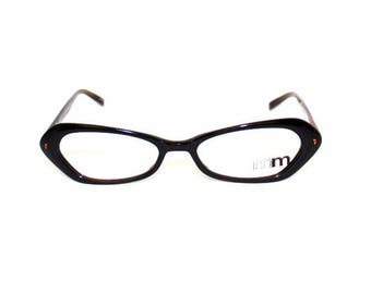 Small frame of glasses Black Cat eye Vintage ALAIN MIKLI M0253 - made by hand in France
