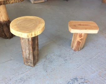 Tables and stools or