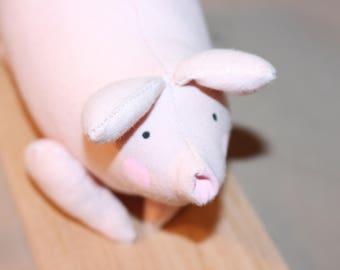 Pig on the base wood