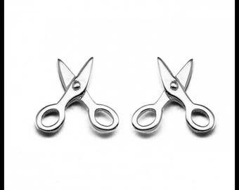 Scissor 925 Sterling Silver Stud Earrings