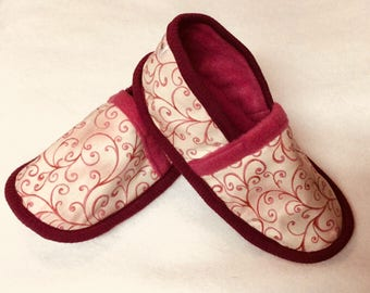 WOMAN slippers made of cotton and fleece