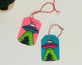 UFO Christmas Tree Ornament