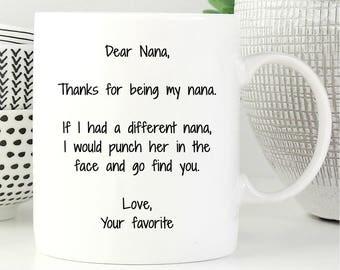 Nana Mug, Nana Gift, Gifts For Nanna, Nana Coffee Mug, Nana Coffee Cup, Birthday Gift, Anniversary Gift, Mother Day