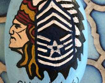 Painted river rocks and slate Hand painted these feature our Military and Fire Depts can be personalized