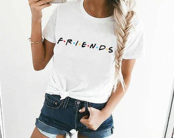 Friends T-shirt, Friends Shirt, Best Friends Shirt, Funny T-Shirt, Funny Cool Word Text Tumblr Hipster T-shirt Unisex S,M,L,XL Size