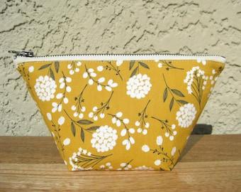 Mustard Yellow Cosmetic Bag