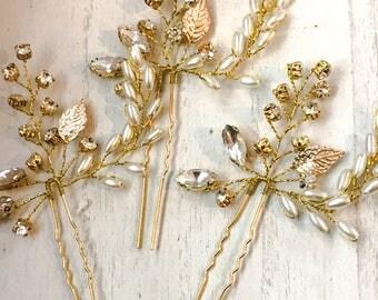 Pearly Grecian Hair Pins