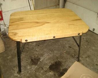 True Plank Table, Heavy Tiger Maple