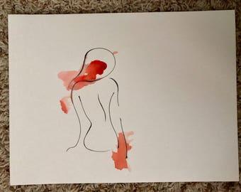 Minimalist Watercolor Woman