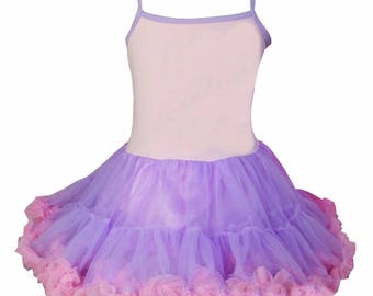 CLEARANCE BOUTIQUE Pink and Lavender Chiffon Pettiskirt Dress size 1-2y