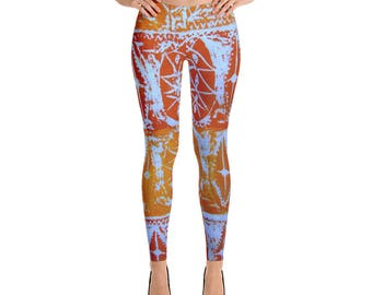 Afro Abstract Print Leggings