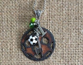 Timbers Soccer Pendant, Keychain, MLS, Portland, Oregon, Sports Teams, Green