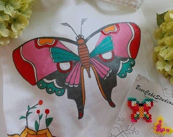 Butterfly Tote & Duo Pin Gift Set