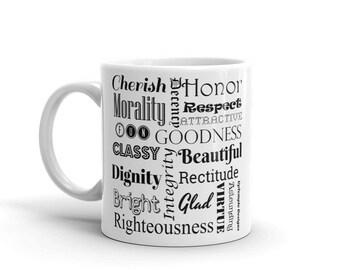 Positive Words on a Mug 3