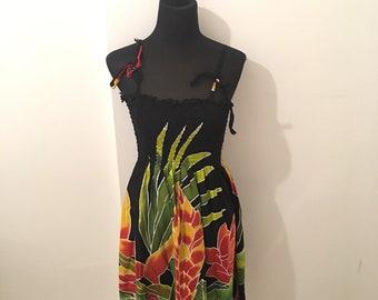 Hawaiian SUNDRESS with bold floral print