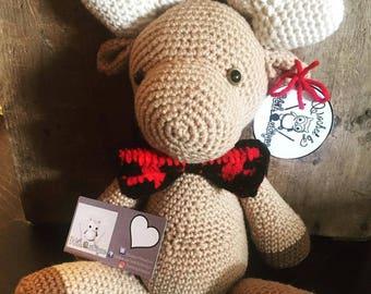 Milo the crochet moose