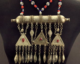 Turkoman Tribe Tumar NECKLACE Bellydance Tribal Dance 812s8