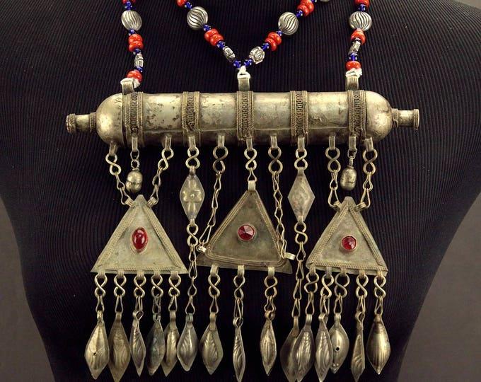 Turkoman Tribe Tumar NECKLACE Bellydance Tribal Dance 812s8