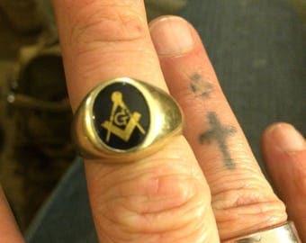 Freemasons Ring 10k Gold Size 10