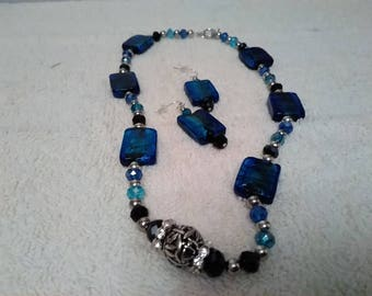 Dark blue and black homemade set
