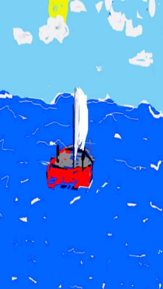 Small sailboat - Fine Art Prints