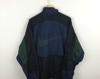 Vintage Nike Wind Breaker Jacket Size XL Big Tick