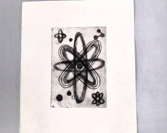 Atom Intaglio Print